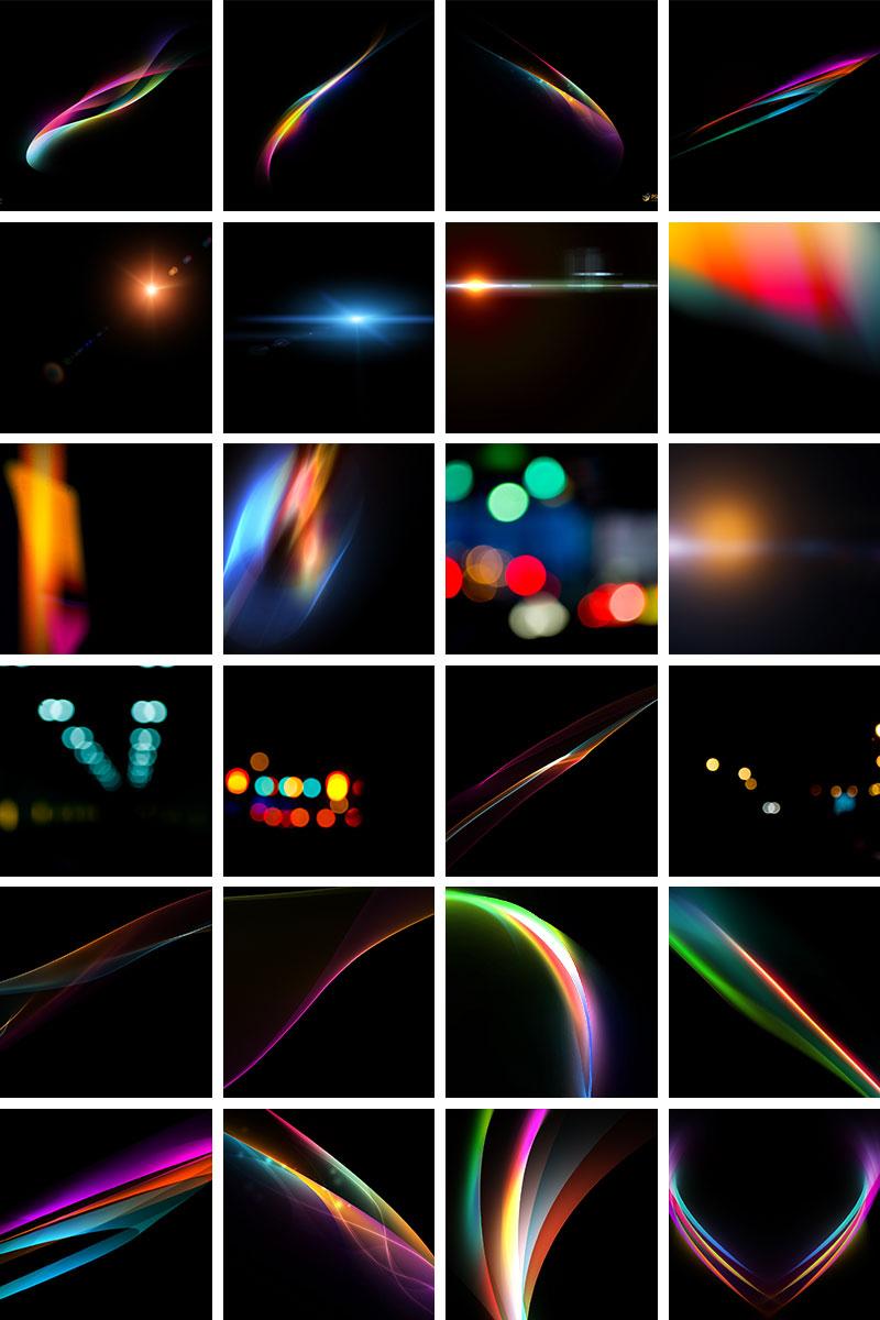 Light overlays bundle by PSD Box
